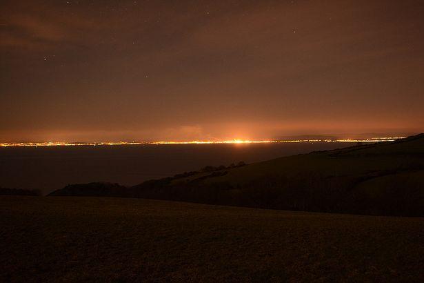 contaminacion luminica costa